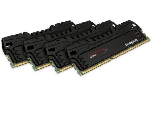 Kingston HyperX Beast 32GB (4x8GB) Memory Kit 1600MHz DDR3 Non-ECC CL9 240-pin DIMM XMP