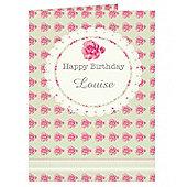 Personalised Vintage Rose Card