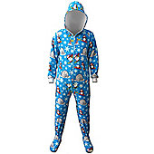 Winter Wonderland Adult Hooded Onesie - Small to Medium