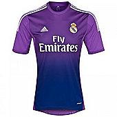 2013-14 Real Madrid Adidas Home Goalkeeper Shirt - Purple