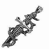 Urban Male Gothic Stainless Steel Men's Sword With Snake Pendant