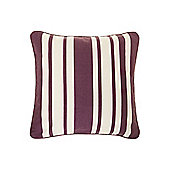 Linea Stripe Cotton Cushion, Purple