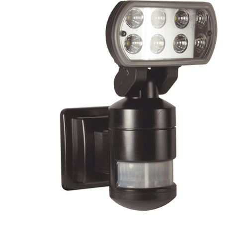Nightwatcher Security LED Robotic Security Lamp - Black