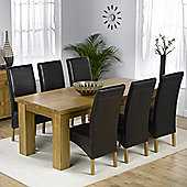 Mark Harris Furniture Barcelona Solid Oak Dining Table with Roma Chairs