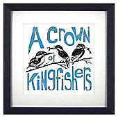 Animal Friends Framed Print - Kingfishers