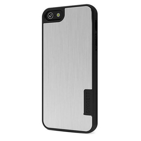 Cygnett UrbanShield Hard Case for iPhone 5 + Screen Protector - Silver Storm