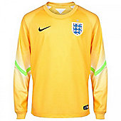 2014-15 England Home World Cup Goalkeeper Shirt (Yellow) - Kids - Yellow