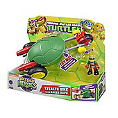Teenage Mutant Ninja Turtles Half-Shell Heroes Stealth Bike With Racer Raph