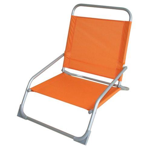Tesco Beach Folding Chair - Orange
