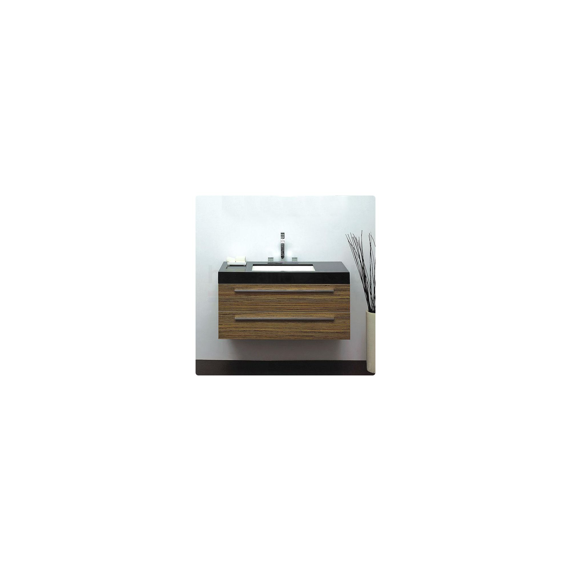 Durab Bella Bathroom ZEBRANO Vanity Unit (Wall Mounted) including Basin 1000mm Wide x 478mm Deep