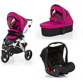 ABC Design Cobra 3 in 1 Pram Travel System - Grape (Silver Frame)