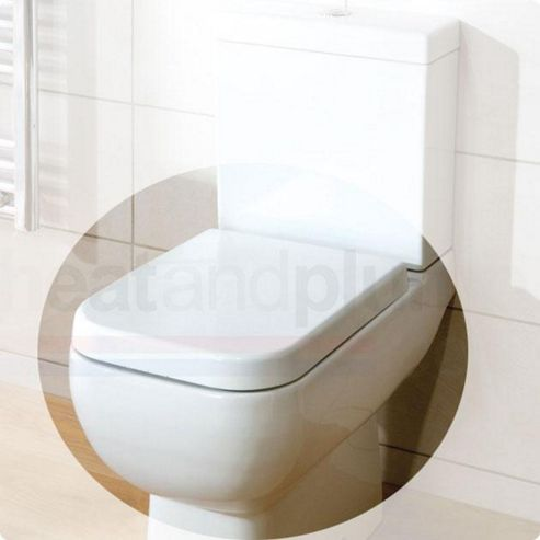 RAK Series 600 Wrap Over Plastic Toilet Seat with Soft Close Hinge
