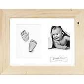 3D Baby Casting Kit - Natural Pine Frame - Silver Paint