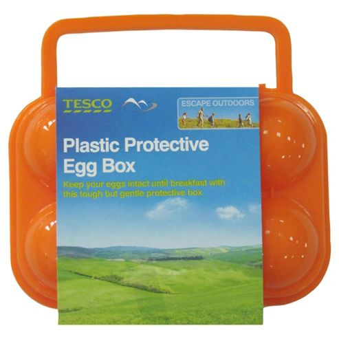 Tesco Plastic Protective Egg Box