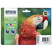 Epson T008 printer ink cartridge - twin pack