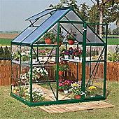 6 x 4 Green Aluminium Greenhouse