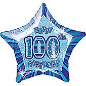 100th 20' Star Foil Balloon (each)