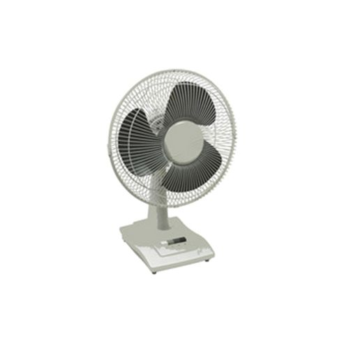 Q-Connect KF00405 12 inch Desktop Fan, 3 Speed - White