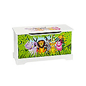 Jungle Animals Wooden Toy Box