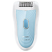Philips SatinSoft HP6522/01 Wet & Dry Epilator with Shaving Attachment and Exfoliation Brush