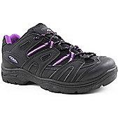 Mountain Peak Ladies Maud Black and Purple Outdoor Footwear - Black