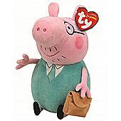 TY Peppa Pig Beanie Baby Plush - Daddy Pig 15cm