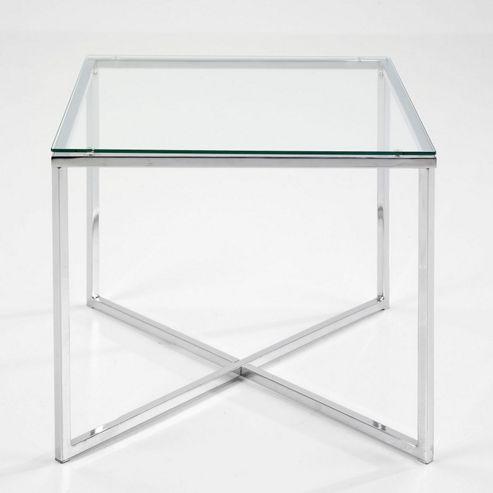 Aspect Design meribel Square Lamp Table - Clear TSG