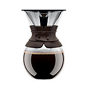 Bodum Pour Over 1L, 8 Cup Filter Coffee Maker, Brown