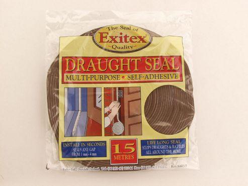 Exitex Saf Self Adhesive Foam Brown 15M
