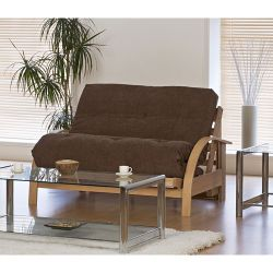 Kyoto New York Futon with Deluxe Mattress - Louisa Chocolate