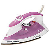 Mr Breeze Creamic Plate Steam Iron - Purple & White
