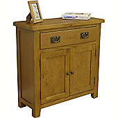 Tucan Rustic Oak Sideboard / Mini Oak 1 Door 2 Drawer Sideboard