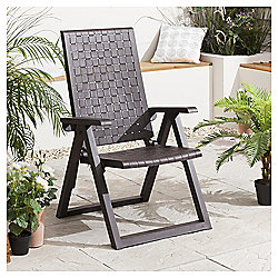 Dream Resin Reclining Garden Chair, Wengue, 5 position