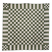 Woven Magic Stam and Cabin Calico Pastels Crib Throw - Green