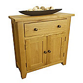 Tresco Waxed Oak Sideboard / Mini Oak 1 Door 2 Drawer Sideboard