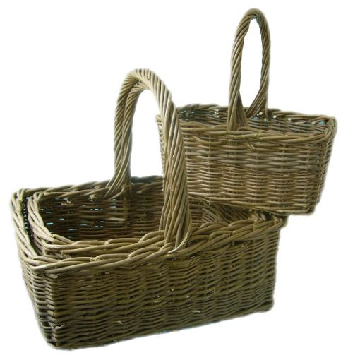 Wicker Valley Shopper (Set of 3)