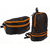 Summit Waist Bag/Backpack Black & Orange