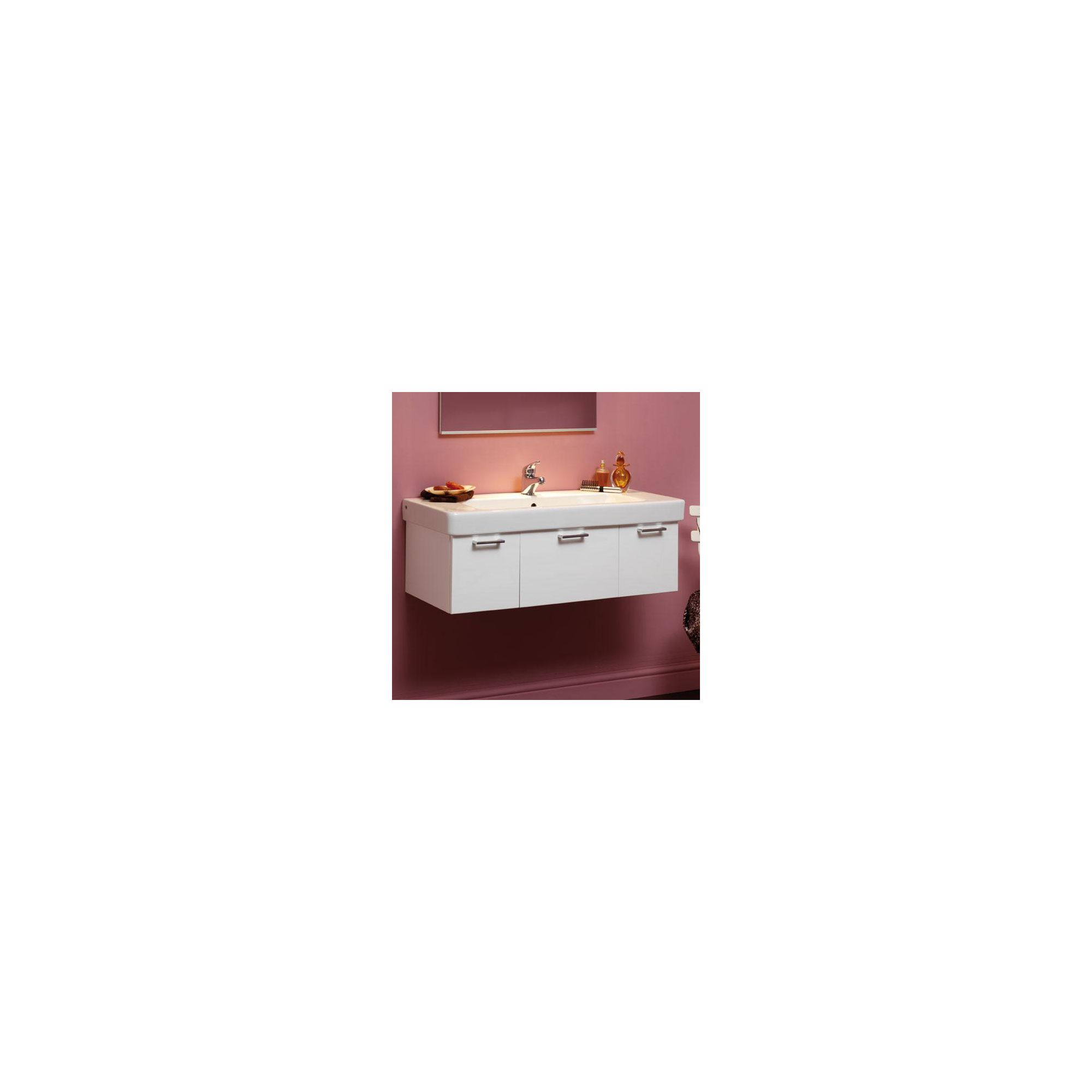 Duchy Trerise White Wall Hung 3 Drawer Vanity Unit and Single Bowl Basin - 1000mm Wide x 445mm Deep
