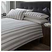 Cotton Rich Regency Stripe Duvet Set, - Cream