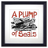 Animal Friends Framed Print - Seals