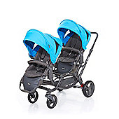 ABC Design Zoom Tandem Twin Stroller - Water (2016)