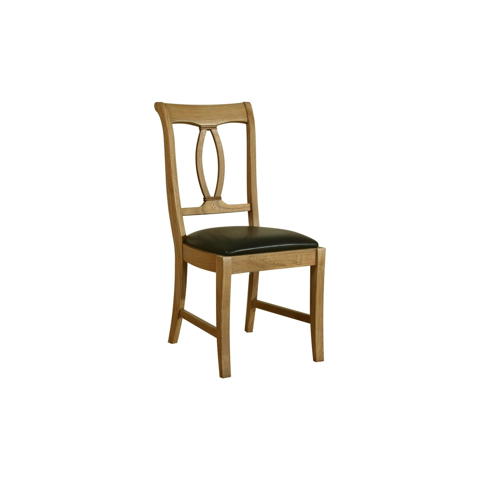 Kelburn Furniture Loire Dining Chair in Light Oak Stain and Satin Lacquer (Set of 2)