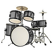 Rocket 5 Piece Junior Drum Kit - Black