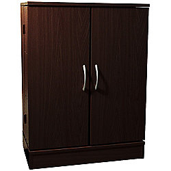Columbus - Double Door Cd Dvd Media Storage Cabinet - Dark Oak
