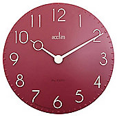 Acctim Canterbury  Resin Wall Clock Red