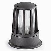 Faro Surat One Light Beacon Outdoor Wall Light in Dark Grey