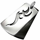 Urban Male Men's Stainless Steel Two Colour Tribal Dog Tag Pendant