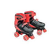 Zinc Adjustable Quad Skates - Black - Size 3-5