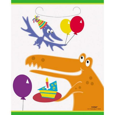 Dinosaur - Dino Party Plastic Party Bags (8pk)