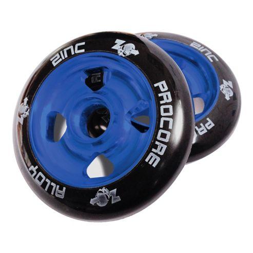 Pro Core 2 x 100mm CNC Cast Alloy High-Bounce Scooter Wheels, Blue